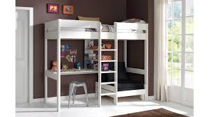 lit surélevé avec bureau lit mezzanine avec bureau et fauteuil en pin massif so nuit