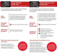 toyota credit bank toyota rewards visa
