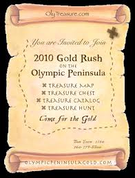 Invitation Programs Gold Rush For Olympic Peninsula Treasure For Travel And Tourism On