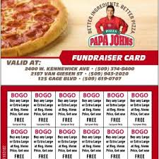 gift card fundraiser fundraisers for richland pasco and kennewick your papa s