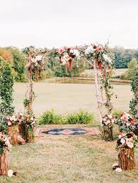 wedding arches flowers picture of fall wedding arch with flower decor