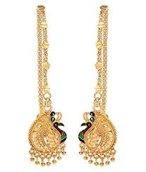 kaan earrings buy goldnera south indian style mayur designed gold plated kaan