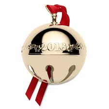 wallace gold sleigh bell ornament 2016 wallace ornament