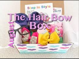 bow boxes the hair bow box subscription august 2015 unboxing