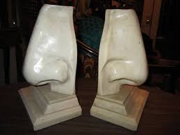 Unusual Bookends Unusual Pair Of Italian Mid Century Modern Oversized Nose Bookends