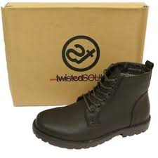 s army boots uk mens brown lace up combat army ankle casual work boots