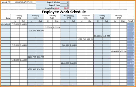 Employee Schedule Template Excel Free Weekly Schedule Templates For Excel Smartsheet