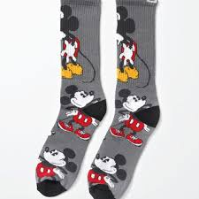 vans disney mickey mouse crew socks from pacsun epic