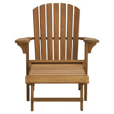 Wood Ottoman Birch Solid Wood Adirondack Chair With Ottoman Reviews