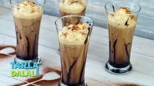 Coffee Decorations Cold Coffee Recipe Frothy Cold Coffee Recipe By Tarla Dalal Youtube