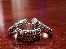 wedding set rings wedding set 3 rings edde designs