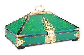 buy nettoor petti ethnic jewel box green colour online