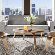 modway plywood coffee table in natural beyond stores