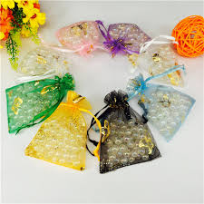 candy bags 50 pcs 9 12cm wedding decoration organza jewelry candy bags pendent