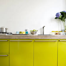 Lime Green Kitchen Splashback - a contemporary lime green kitchen ideal home