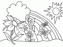 spring color pages spring rainbow coloring page for kids seasons