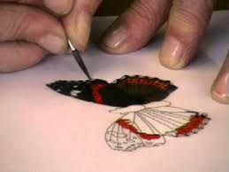 painting a butterfly on parchment by pauline loweth youtube