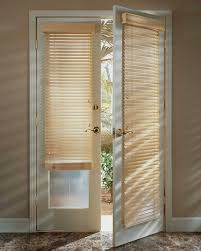 Roman Shades Over Wood Blinds Blinds Hunter Douglas Parkland Classics Cordlock French Door Entry Jpg