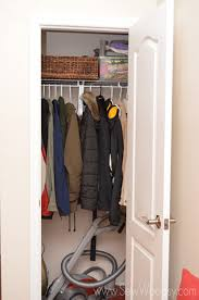 organize the coat closet in minutes sew woodsy