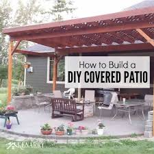 Shade Backyard How To Build A Diy Covered Patio