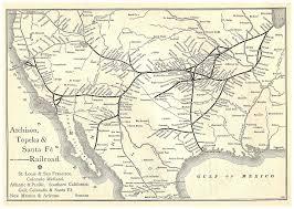 Santa Fe Map The Atchison Topeka U0026 Santa Fe Railroad And Fred Harvey Build The