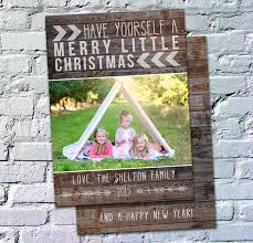photo card template rustic pallet wood
