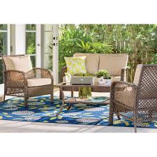 Patio Furniture Sets With Fire Pit by Outdoor Furniture Sets On A Budget The Weathered Fox