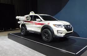 the x wing inspired 2017 nissan rogue is the center piece of