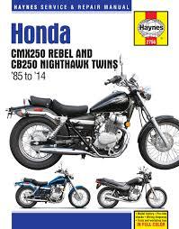 honda cmx250 rebel u0026 cb250 nighthawk twins 85 14 haynes repair