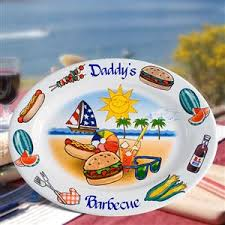 personalized serving platter ceramic personalized plate custom plate wedding plate barbecue platter