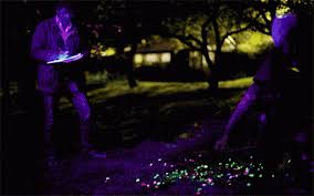glow in the dark outdoor art 15 designs that come alive at night