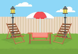 Backyard Clip Art Lawn Chair Backyard Free Vector Download Free Vector Art Stock