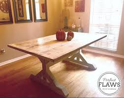 Rustic Wood Dining Room Table Rustic Dining Table Etsy