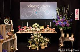 wedding show sonning flowers at the national wedding show flowerona