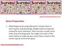 youth ministry ideas valentine u0027s day bingo
