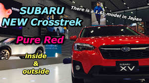 subaru colors 2018 subaru all new suv crosstrek pure red inside u0026outside スバル