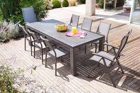 cuisine alu et bois emejing table de jardin bois rallonge gallery amazing house