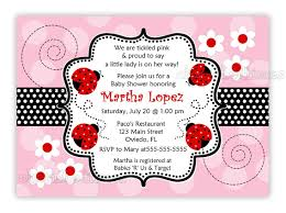 Babyshower Invitation Card Ladybug Baby Shower Invitations Theruntime Com