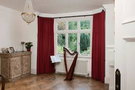 Rods For Bay Windows Ideas Decorating Wood Tile Flooring With Contemporary Curtain And