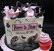 shopaholic born to shop theme cakes and cupcakes cakes and