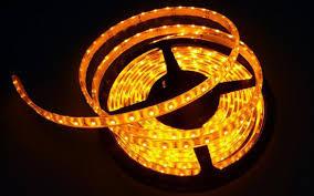 yellow led light led strips waterproof ribbon