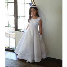 communion dress garment big white embroidered appliques