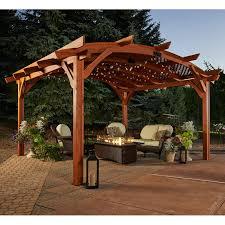 12 X 12 Pergola by Sonoma 12 X 12 Ft Arched Wood Pergola Hayneedle