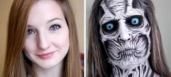 makeup artist self taught makeup artist turns herself into evil monsters and