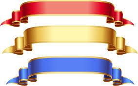 gold ribbon gold ribbon banner clip clip library