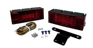 blazer led trailer lights blazer c7280 led rectangular low profile submersible trailer light