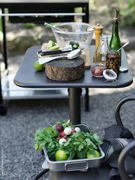 en perfekt liten plats att förbereda tillagningen på grillen är