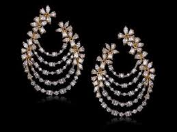 chandbali earrings diamond chandbali earrings