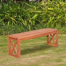 Outside Benches Home Depot by Walker Edison Furniture Company Acacia Wood X Frame Patio Bench In