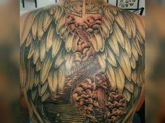 stairway to heaven back tattoo top if tears could build a stairway